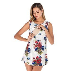 Dresses & Skirts - Maternity dress floral print summer dress
